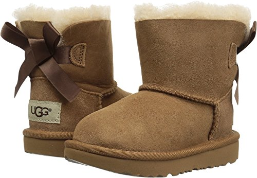 UGG Girls T Mini Bailey Bow II Pull-On Boot, Chestnut, 6 M US Toddler (Bailey Bow Uggs For Girls)