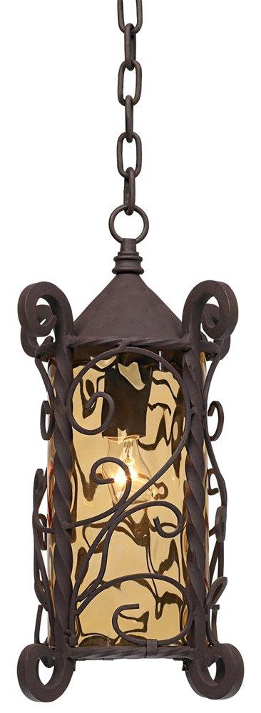 Casa Seville 15'' High Iron Scroll Outdoor Hanging Light