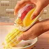 Corn Stripper Alamic Corn Cutter Series - Corn Cob Peeler Quick Corn Cob Remover Corn Kerneler Corn Shucker Kitchen Cooking Tools with Hand Protector