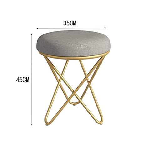Astonishing Amazon Com Aodisha Makeup Stool Stool Metal Cloth Art Forskolin Free Trial Chair Design Images Forskolin Free Trialorg