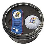 NCAA Kansas Jayhawks Tin Gift Set with Switchfix Divot Tool and Golf Ball