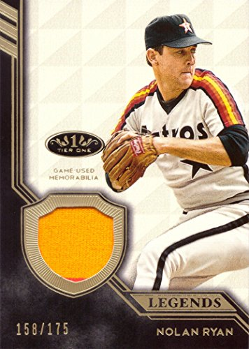 2018 Topps Tier One Relics Legends #T1RL-NR Nolan Ryan Game Worn Astros Jersey Baseball Card - Only 175 made!