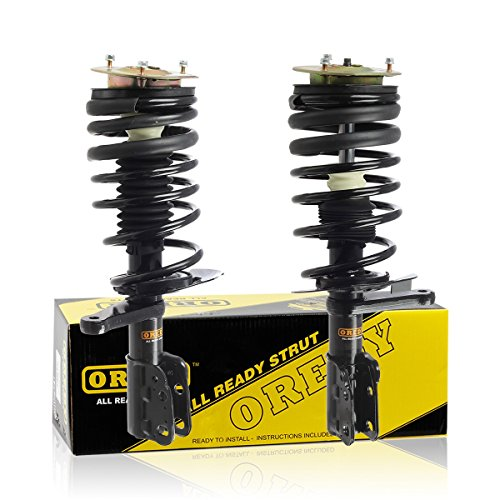 OREDY Front Pair Complete Struts Assembly Kit Shock 171809 11481 Compatible with Chevrolet Cavalier 1983 1984 1985 1986 1987 1988 1989 1990 1991/Pontiac Sunbird/Grand Am 1986 1987 1988 1989 1990 1991