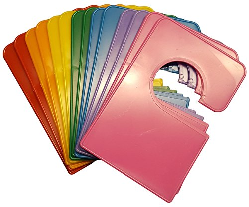 14 Blank Rainbow Closet Dividers 5.25x3.5 Inches Plus 48 Labels -