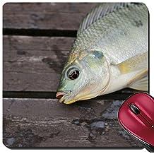 Liili Suqare Mousepad 8x8 Inch Mouse Pads/Mat The Tilapia fishing Image ID 21726568