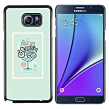 // PHONE CASE GIFT // Fashion Hard Case PC Cover Protective Case for Samsung Galaxy Note 5 / Drink Poster Cocktail Green Wine /