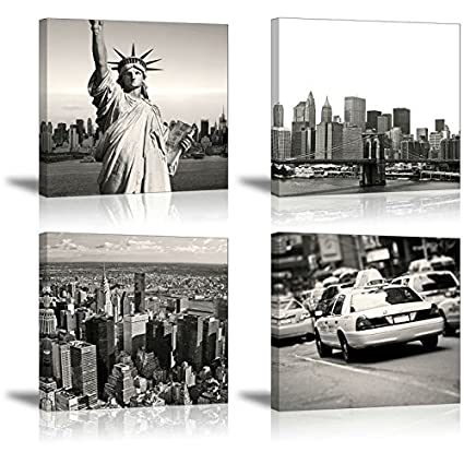 Amazon.com: New York Wall Art for Bedroom, SZ Urban NY City Picture ...