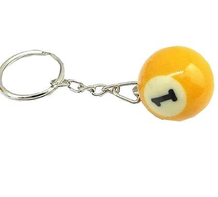 NR.1) Llavero con Colgante - Bola de Billar - Número ...