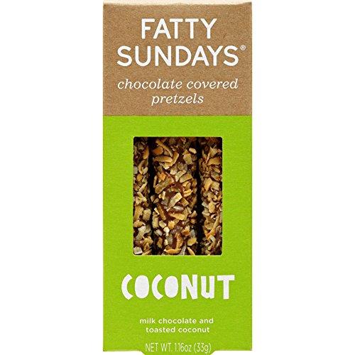 Fatty Sundays Chocolate Covered Pretzels, 1.16oz - Gourmet Rods Pretzel