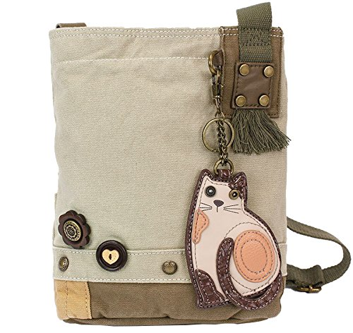 e5b4622099 Chala Patch Cross-Body Women Handbag, Sand Color Canvas Messenger Bag