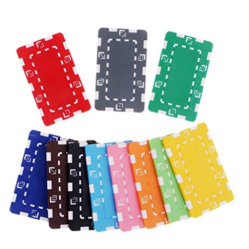 Flameer ポーカーチップ コイン クレイポーカーチップ テーブルゲーム 道具 麻雀ゲーム 全4種選べ - 4