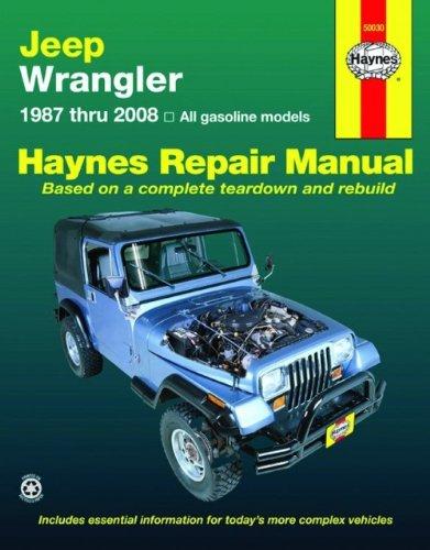 Jeep Wrangler 1987 2008 Haynes Repair Manual Haynes