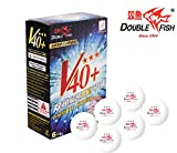 Double Fish ITTF Approved 3 Star ABS New Material Ping Pong Balls, 6 Pack, White (3star-6pack)