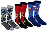 DC Comics Justice League Mens Casual Crew Socks 2 & 3 Pair Packs