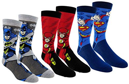 justice+league Products : DC Comics Justice League Mens Casual Crew Socks 2 & 3 Pair Packs