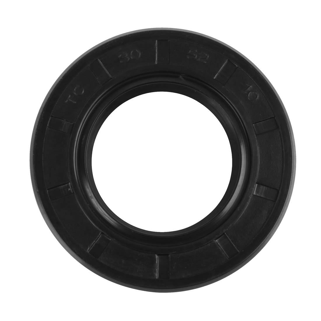 X AUTOHAUX Sello de Eje de Aceite TC de Doble Labio de Goma de 30mmx52mmx10mm para Coche