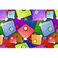 Saudeep India Indian Traditional Cheel Kites for Decoration Pack of 40 Kites