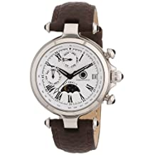 Constantin Durmont CD-MIRL-AT-LT-STST-WH - Women's Wristwatch , Leather, color: Brown