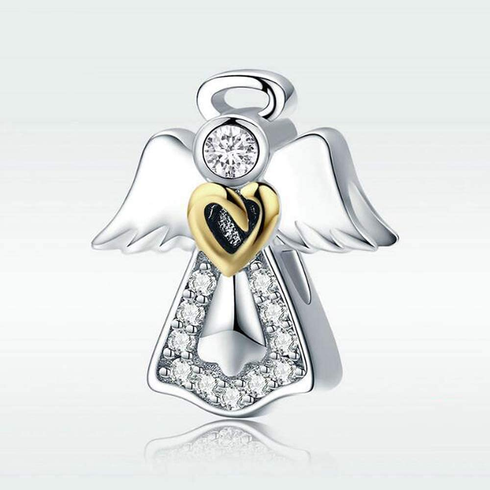 Pandora Abalorios Encantos 925 Plata Esterlina Colgante Accesorios Guardian Angel Plateado Platino Perlas Amazon Es Deportes Y Aire Libre