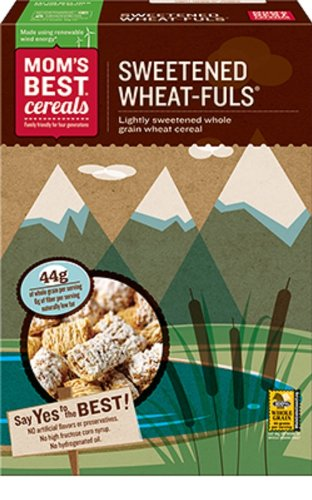 Mom Brand Natural Sweetened Wheat-fuls, 16.5 Ounce (Pack of 16)