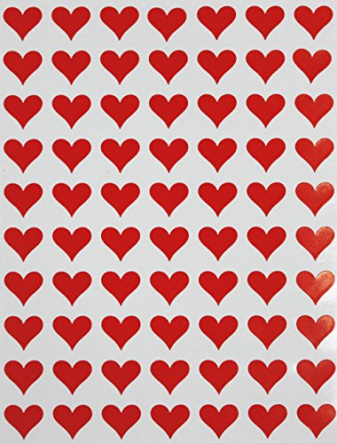 (Red Heart Stickers 0.5 inch (13mm) 1/2