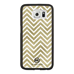 Custom made Case,(MK) Michael Kors PC Plastic Cell Phone Case for Samsung Galaxy S6,Black Case With Screen Protector (Tempered Glass) Free S-6629868