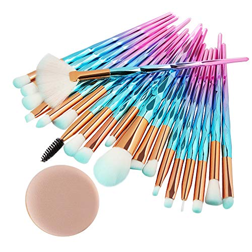 vermers Makeup Brushes Set 20PCS Make Up Foundation Eyebrow Eyeliner Blush Cosmetic Concealer Brushes Makeup Brush Kit and Powder Puff (Best Discount Cosmetics Websites)