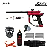 Azodin Kaos 2 Silver Paintball Gun Package - Red/Black