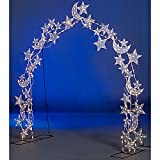 Star and Moon Wire Arch Decorations