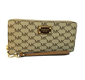 05dc6a937359 ... for Michael Kors Large Jet Set Travel Continental Wristlet,Natural/.  upc 191935609250 product image1