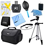 "Digital SLR Camera Accessory 9 pc Kit Canon Nikon Sony 60 "" Tripod USB Card Reader Memory Card Wallet Lens Cleaning Kit & Pen Screen Protectors Digital Grey Card Set Professional Blower"