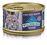 BLUE Wilderness Adult Grain Free Chicken Pate Wet Cat Food  3-oz (pack of 24)