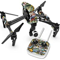 Skin For DJI Inspire 1 Quadcopter Drone – Action Fish Puzzle | MightySkins Protective, Durable, and Unique Vinyl Decal wrap cover | Easy To Apply, Remove, and Change Styles | Made in the USA