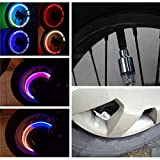 Kyпить COGEEK 4 Pcs Motor Bike Car Bicycle Tyre Tire Valve LED Bulbs Wheel Lights (Blue) на Amazon.com