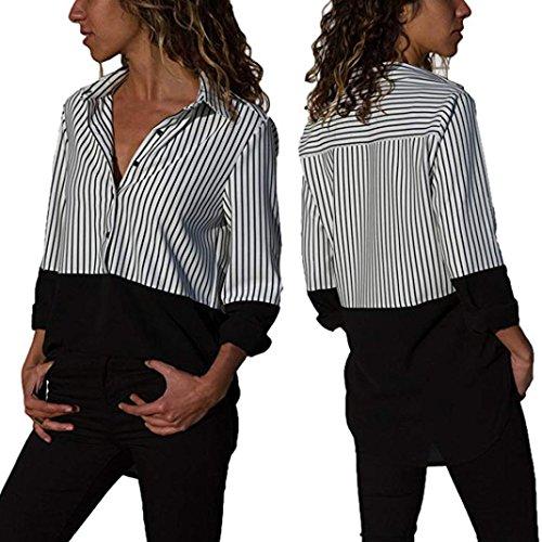 Hemlock Women Office Shirt Long Sleeve Turndown Tops Blouse Lapel Business Suits Autumn Tees Clearence Sales XL]()