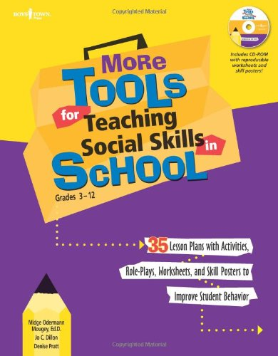 Read Online More Tools for Teaching Social Skills in School: Grades 3-12 (Book & CD Rom) ebook