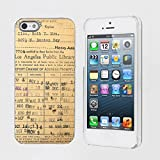 Mobiflare Apple iphone 5S / 5 Vintage Library Card Snap on Artistry Design Case