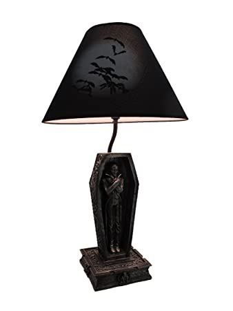 Resin table lamps dark dawning vampire in the coffin black table resin table lamps dark dawning vampire in the coffin black table lamp and fabric shade 6 aloadofball Images