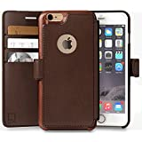 iPhone 6 PLUS,6s PLUS Wallet Case | Durable and Slim | Lightweight with Classic Design & Ultra-Strong Magnetic Closure | Faux Leather | Dark Brown | Apple 6/6s PLUS (5.5 in) (Dark Brown)