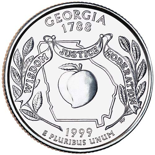 1999 S Silver Proof Georgia State Quarter Choice Uncirculated US Mint