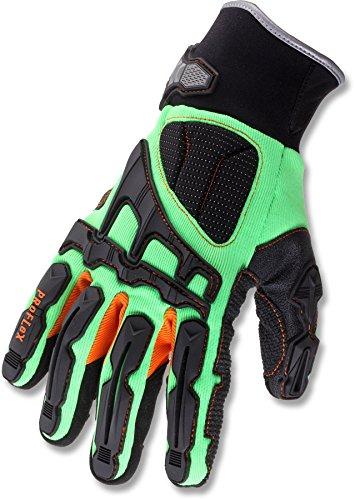 Ergodyne ProFlex 925F(x) Dorsal Impact-Reducing Gloves, Medium, Lime