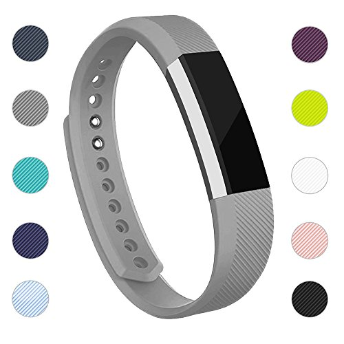 For Fitbit Alta Bands And Fitbit Alta Hr Bands  Newest Adjustable Sport Strap Replacement Bands For Fitbit Alta And Fitbit Alta Hr Smartwatch Fitness Wristbands With Metal Clasp Gray Small