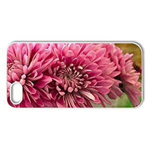 Pink Fall Stars - Case Cover for iPhone 5 and 5S (Flowers Series, Watercolor style, White)