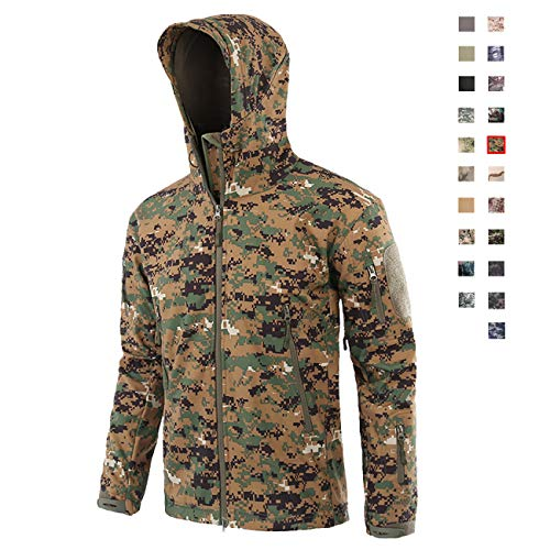 Military Ba Men Canvas Cross Trail Big Game Camo Workwear Hooded Jacket-Jungle Digital 3XL