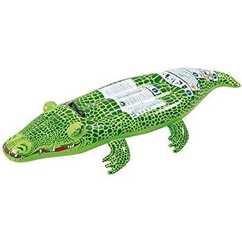 Small World Toys Active Edge   Crocodile Rider Inflatable Crocodile (6  Piece)
