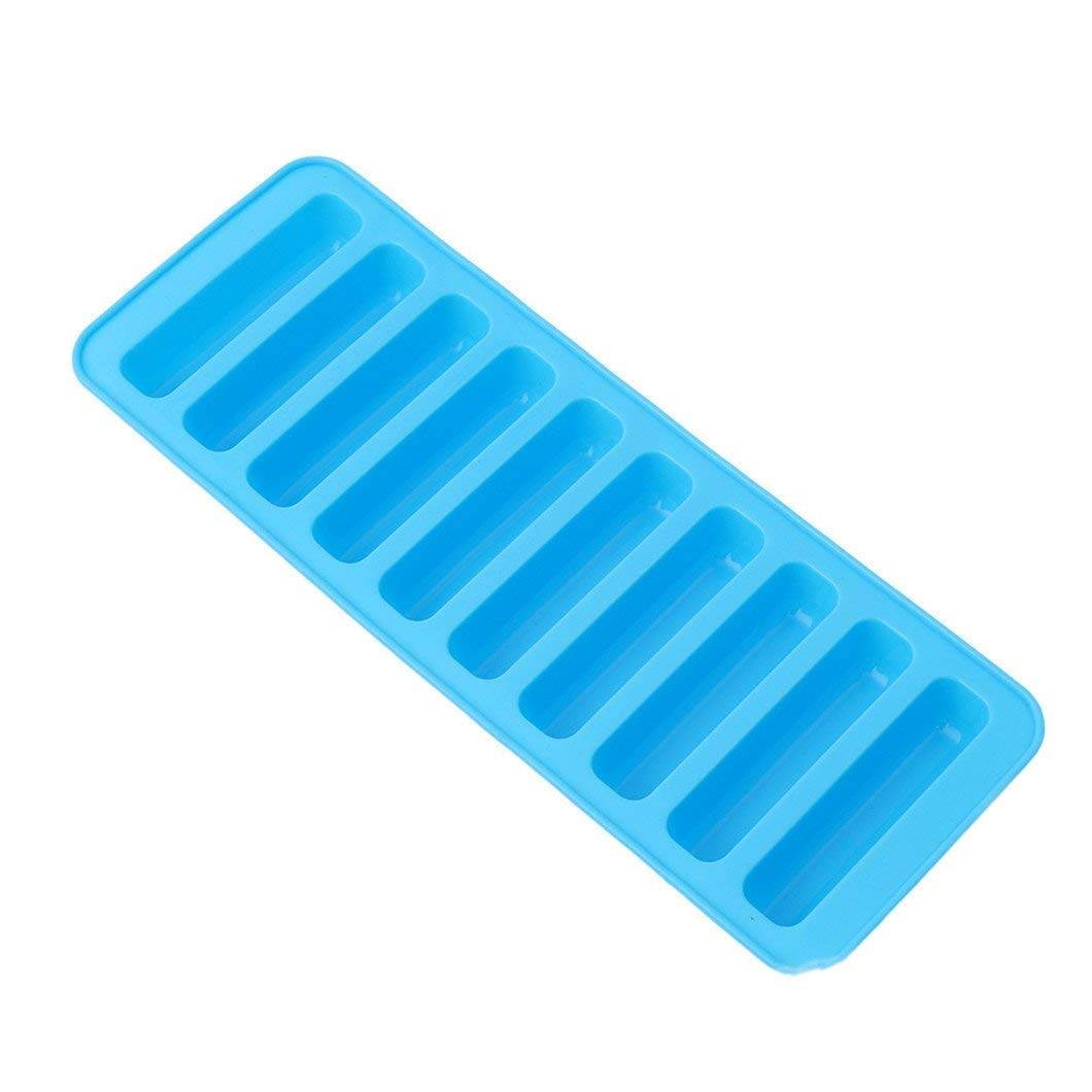 Gluckliy Stick Ice Cube Silicone Tray Mould Tool Chocolate Soap Jelly Candy Mold Mould Ice Maker (Blue) fangqiang