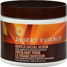 Pack of 8 x Desert Essence Facial Scrub Gentle Stimulating - 4 fl oz