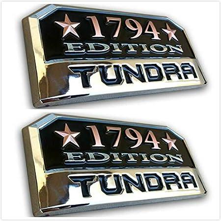 2 Tonet For TUNDRA CREW MAX 1794 EDITION PLATINUM WESTERN EMBLEM EDITION Emblem Badge LEFT /& RIGHT FENDER Nameplate
