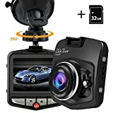 """PEMENOL Dash Cam 1080P HD Dashboard Camera Recorder Car DVR with 170°Wide Angle 2.31"""" Screen Camcorder, Loop Recording, G-Sensor, Parking Monitor,Motion Detection,32GB Micro SD Card Included"""