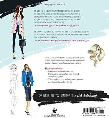 Sketch and Go 5,Minute Fashion Illustration 500 Model